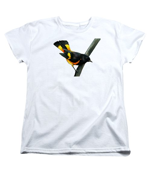 American Redstart Women's T-Shirt (Standard Cut) by Rory Viale