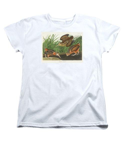American Woodcock Women's T-Shirt (Standard Cut) by John James