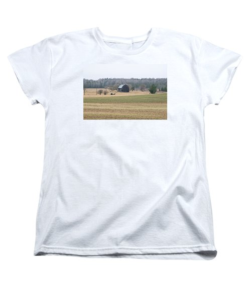 Women's T-Shirt (Standard Cut) featuring the photograph Amish Country 0754 by Michael Peychich