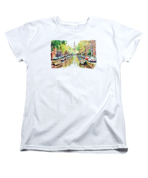 Amsterdam Canal 2 Women's T-Shirt (Standard Cut) by Marian Voicu