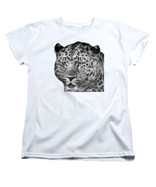 Amur Leopard Women's T-Shirt (Standard Cut) by John Edwards