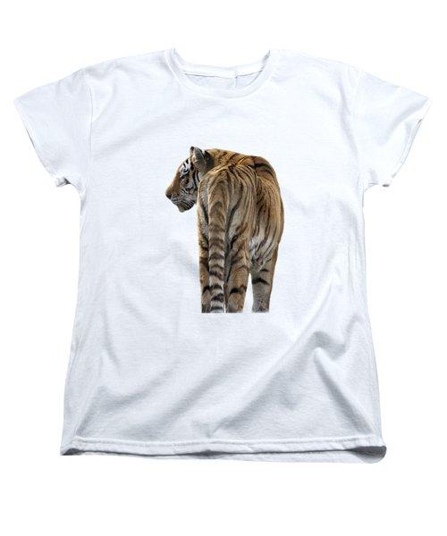 Amur Tiger On Transparent Background Women's T-Shirt (Standard Cut) by Terri Waters
