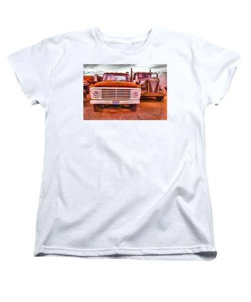 Women's T-Shirt (Standard Cut) featuring the photograph An Old Ford And Kenworth by Jeff Swan
