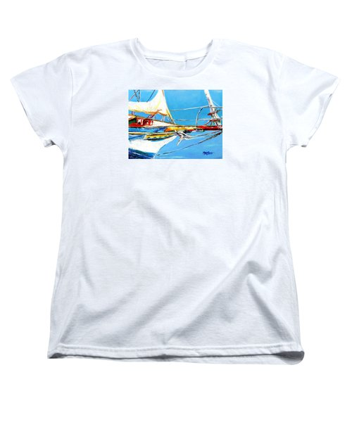 Anchored 2 Women's T-Shirt (Standard Cut) by Marti Green