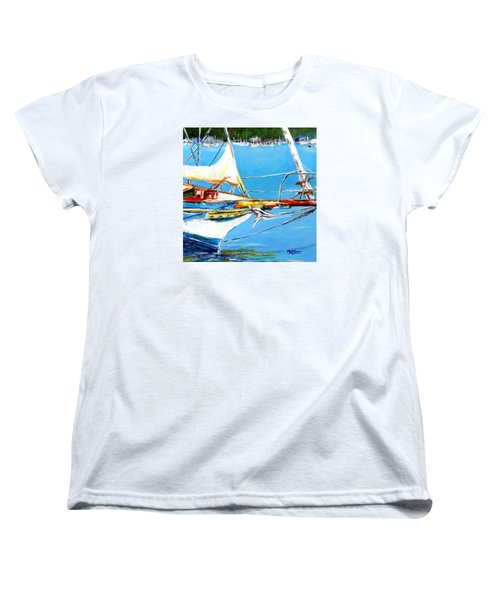 Anchored Women's T-Shirt (Standard Cut) by Marti Green