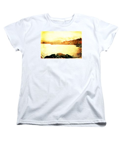 Women's T-Shirt (Standard Cut) featuring the digital art Ancient Marina by Andrea Barbieri