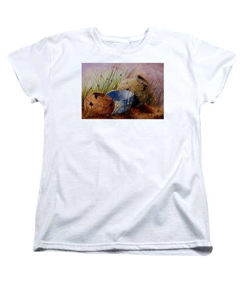 Ancient Relics A Paint Along With Jerry Yarnell' Study. Women's T-Shirt (Standard Cut) by Jimmy Smith