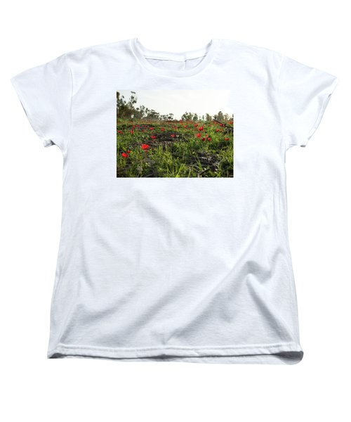 Anemones Forest Women's T-Shirt (Standard Cut) by Yoel Koskas