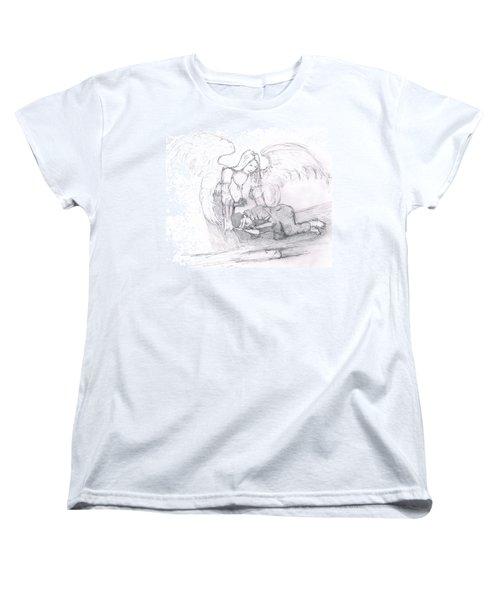 Angel And The Man Women's T-Shirt (Standard Cut) by Dan Twyman