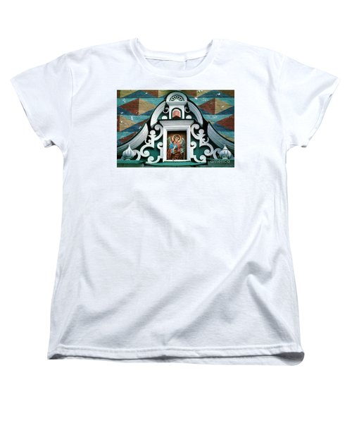 Angel Icon At Trinity Lavra Of St. Sergius Monastery Women's T-Shirt (Standard Cut) by Wernher Krutein