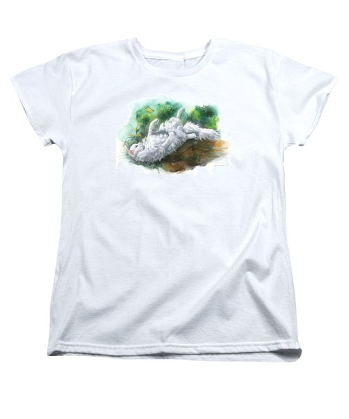 Women's T-Shirt (Standard Cut) featuring the painting Angel In The Morning by Sherry Shipley