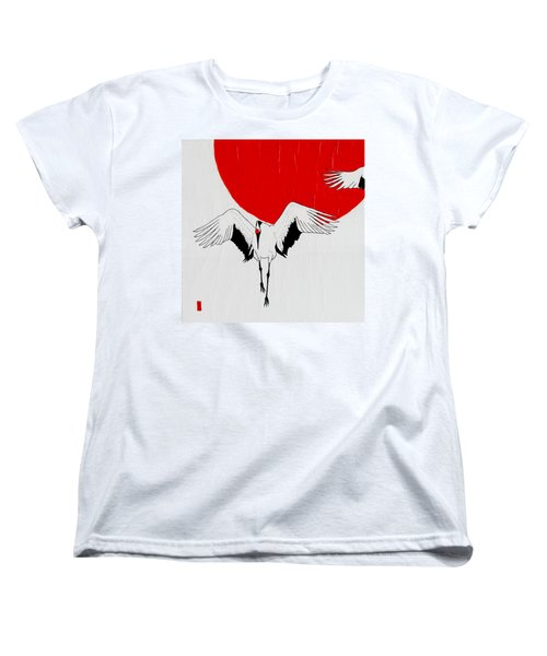 Angelic Crane Women's T-Shirt (Standard Cut) by Stephanie Grant
