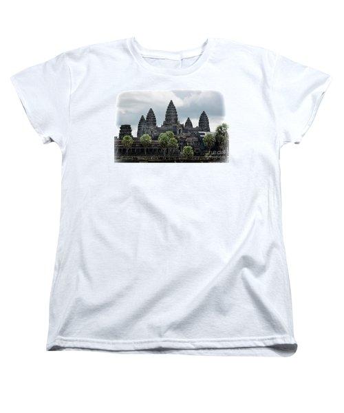 Angkor Wat Focus  Women's T-Shirt (Standard Cut) by Chuck Kuhn