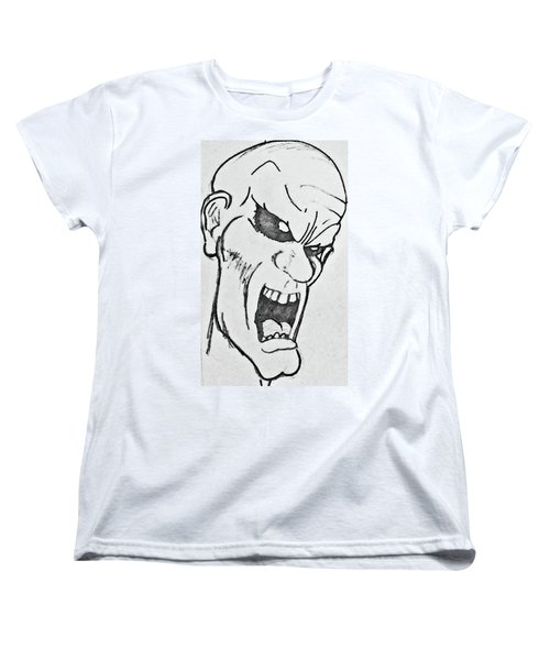 Angry Cartoon Zombie Women's T-Shirt (Standard Cut) by Yshua The Painter
