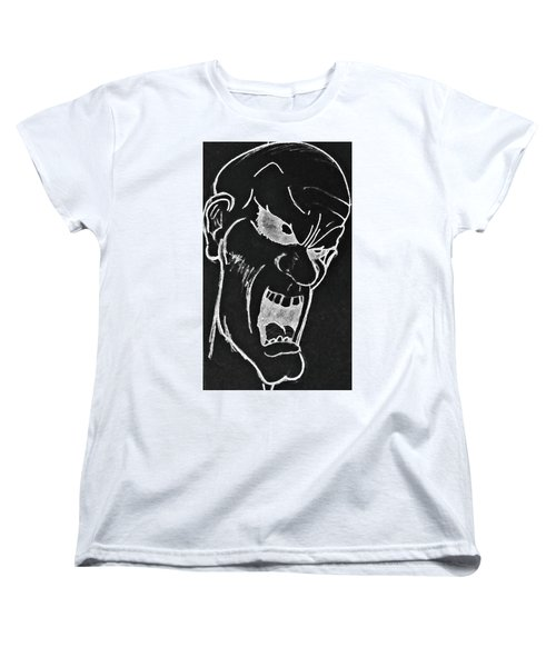 Angry Zombie In Negative Women's T-Shirt (Standard Cut) by Yshua The Painter