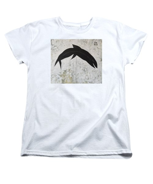Animalia Black Fish Women's T-Shirt (Standard Cut)