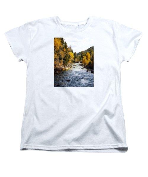 Women's T-Shirt (Standard Cut) featuring the photograph Animas River by Kurt Van Wagner