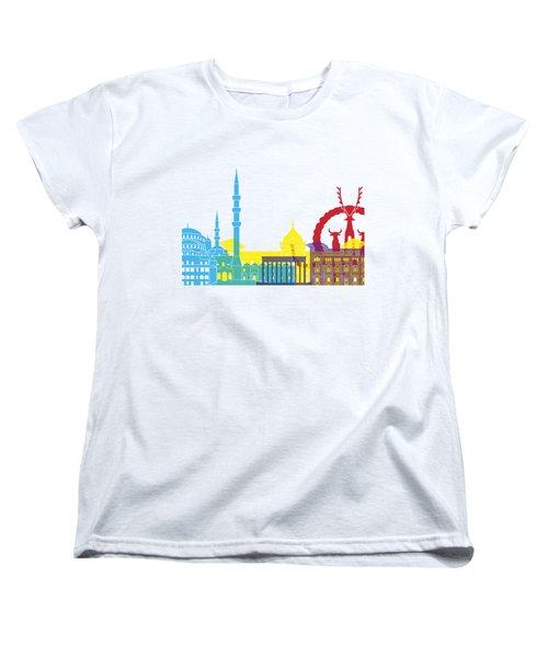 Ankara Skyline Pop Women's T-Shirt (Standard Cut) by Pablo Romero