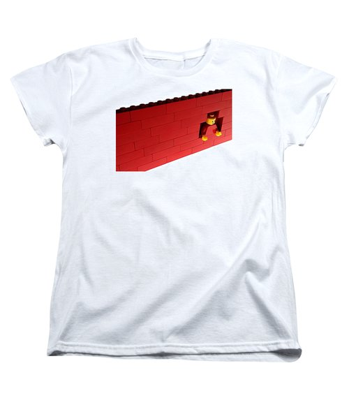 Women's T-Shirt (Standard Cut) featuring the photograph Another Brick In The Wall by Mark Fuller