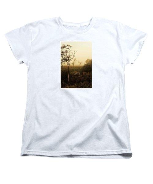 Another Morning  #autumn #morning Women's T-Shirt (Standard Cut) by Mandy Tabatt
