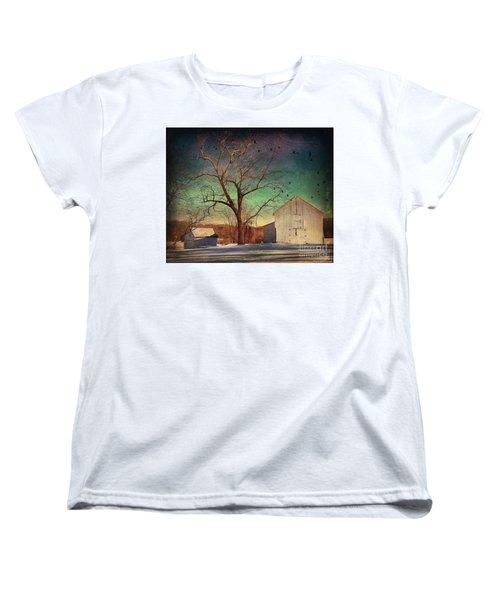 Another Winter Day  Women's T-Shirt (Standard Cut) by Delona Seserman