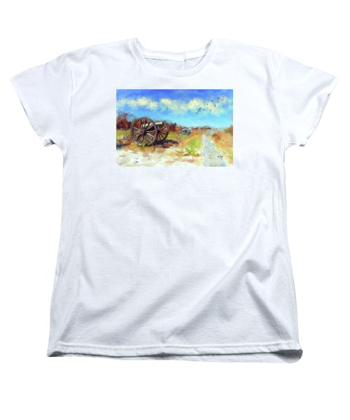Antietam Under Blue Skies  Women's T-Shirt (Standard Cut) by Lois Bryan