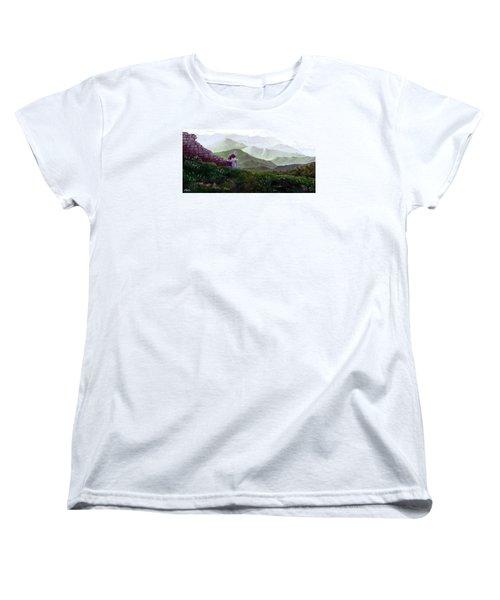 Antonio Atop La Rocca De Monte Calvo Women's T-Shirt (Standard Cut) by Albert Puskaric