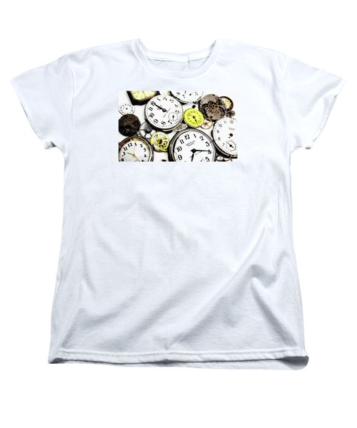 Anybody Really Know What Time It Is Women's T-Shirt (Standard Cut) by Pat Cook