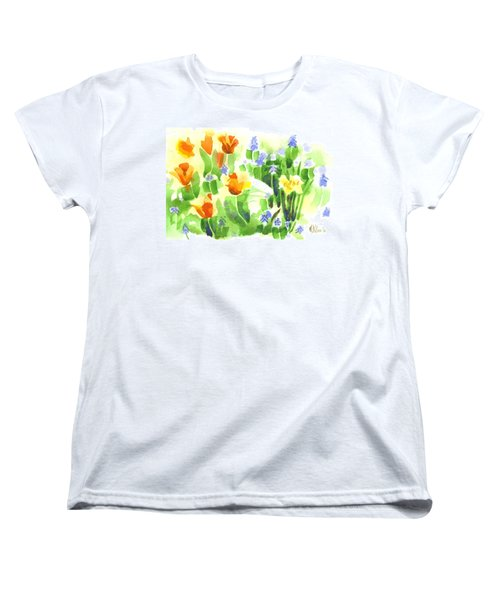 Women's T-Shirt (Standard Cut) featuring the painting April Flowers 2 by Kip DeVore