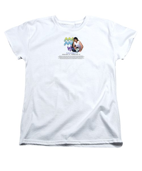 Aquarius Sun Sign Women's T-Shirt (Standard Cut) by Shelley Overton