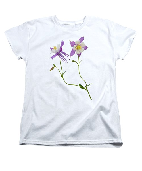 Aquilegia Specimen Women's T-Shirt (Standard Cut) by Jane McIlroy