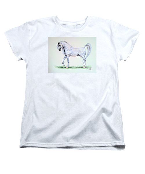 Arabian Stallion  Women's T-Shirt (Standard Cut) by Cheryl Poland