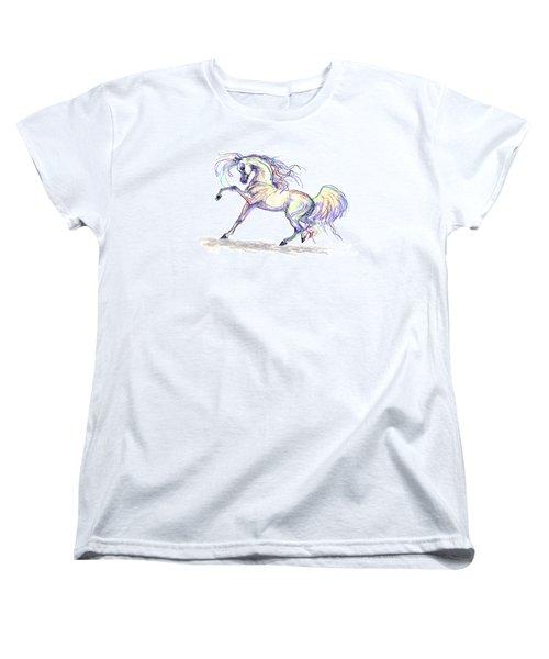 Arabian Stallion Talk Women's T-Shirt (Standard Cut) by Stacey Mayer