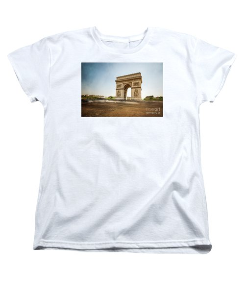 Women's T-Shirt (Standard Cut) featuring the photograph Arc De Triumph by Hannes Cmarits