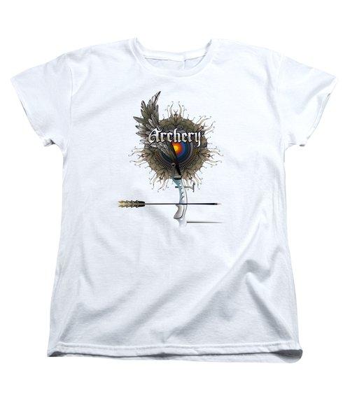 Archery Bow Wing Women's T-Shirt (Standard Cut) by Rob Corsetti