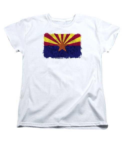Arizona Flag Women's T-Shirt (Standard Cut) by World Art Prints And Designs