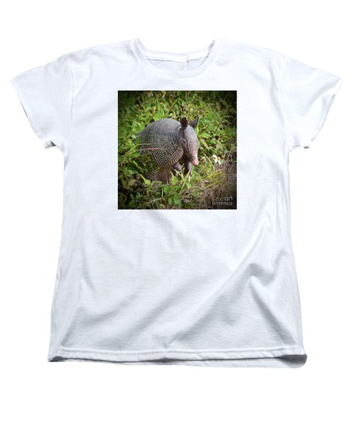 Armadillo And Flower Women's T-Shirt (Standard Cut) by AnnaJo Vahle