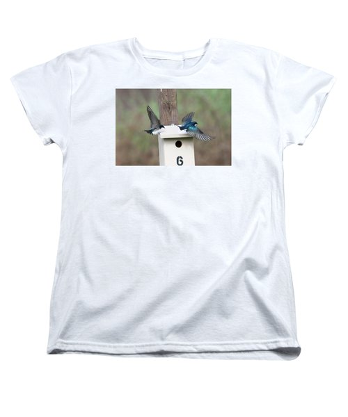 Women's T-Shirt (Standard Cut) featuring the photograph Arrival And Departure by Gary Wightman