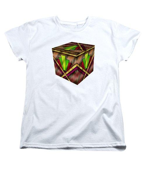 Art Deco 13 Cube Women's T-Shirt (Standard Cut) by Chuck Staley