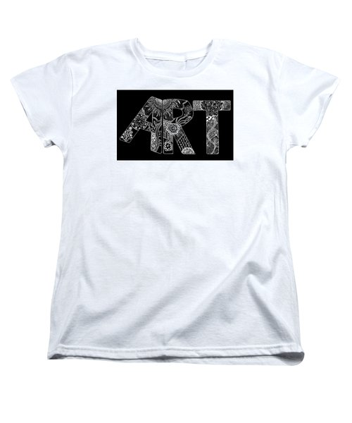 Art Within Art Women's T-Shirt (Standard Cut) by Samantha Thome