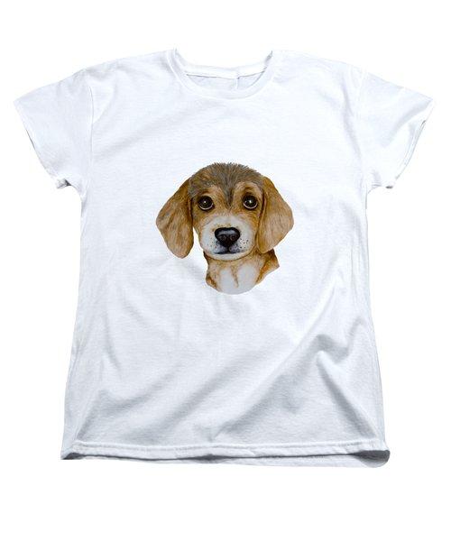 Beagle Puppy Women's T-Shirt (Standard Cut) by John Stuart Webbstock