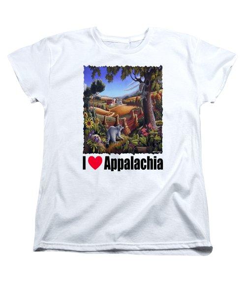I Love Appalachia - Coon Gap Holler Country Farm Landscape 1 Women's T-Shirt (Standard Cut)