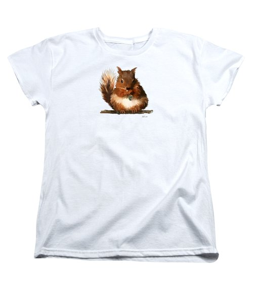 Young Squirrel Women's T-Shirt (Standard Cut) by Bamalam  Photography