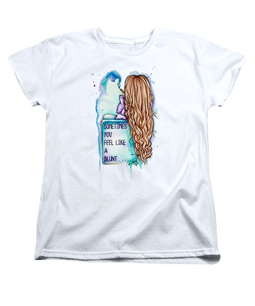 Women's T-Shirt (Standard Cut) featuring the painting Long Day by Lizzy Love