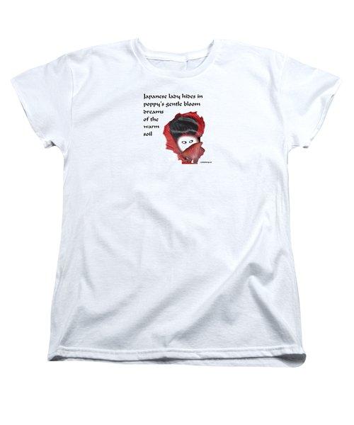 Poppy Lady Women's T-Shirt (Standard Cut) by Graham Harrop