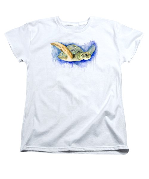 Turtle Women's T-Shirt (Standard Cut) by Esther Torres trujillo