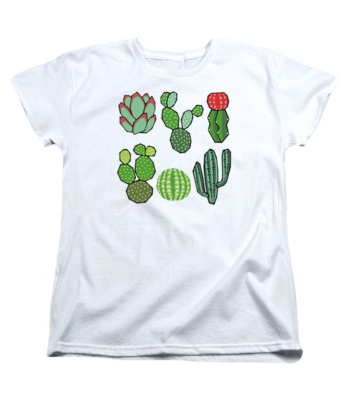 Cacti Women's T-Shirt (Standard Cut) by Kelly Jade King