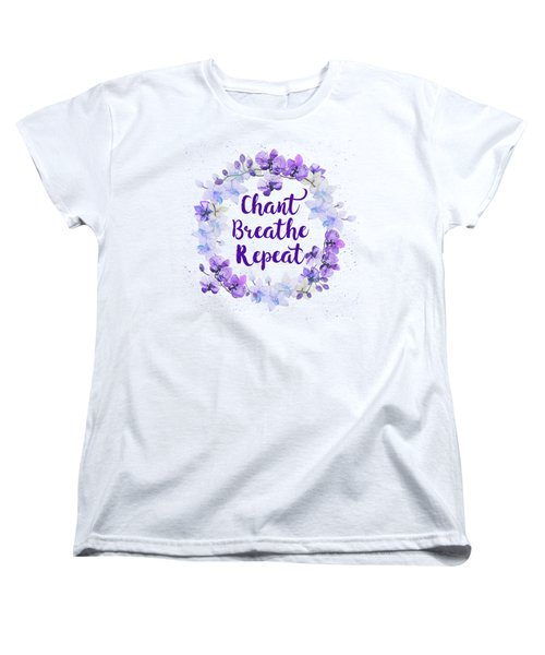 Women's T-Shirt (Standard Cut) featuring the painting Chant, Breathe, Repeat by Tammy Wetzel