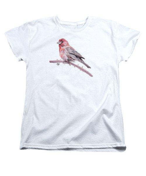 House Finch Women's T-Shirt (Standard Cut) by Angeles M Pomata