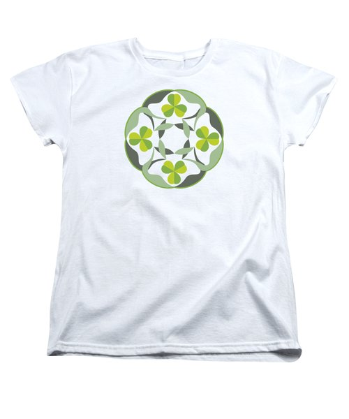 Celtic Inspired Shamrock Graphic Women's T-Shirt (Standard Cut) by MM Anderson